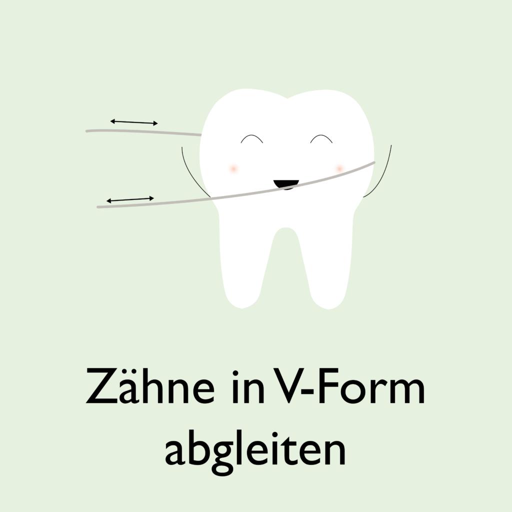 Zahnside richtig verwenden